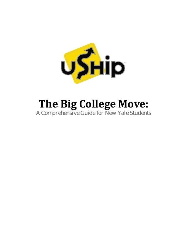 The Big College Move: A Comprehensive Guide for New Yale Students