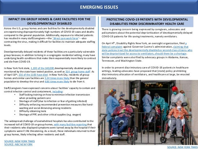 EMERGING ISSUES IMPACT ON GROUP HOMES & CARE FACILITIES FOR THE DEVELOPMENTALLY DISABLED Across the U.S., group homes and ...