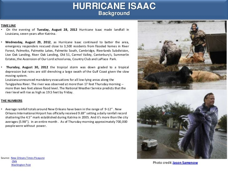 YALE TULANE ESF-8 VMOC SPECIAL REPORT - HURRICANE ISAAC 2