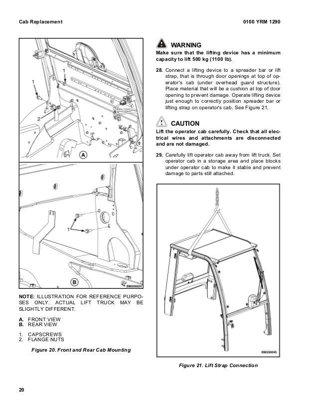 Yale d878 glp60 vx lift truck (europe) service repair manual