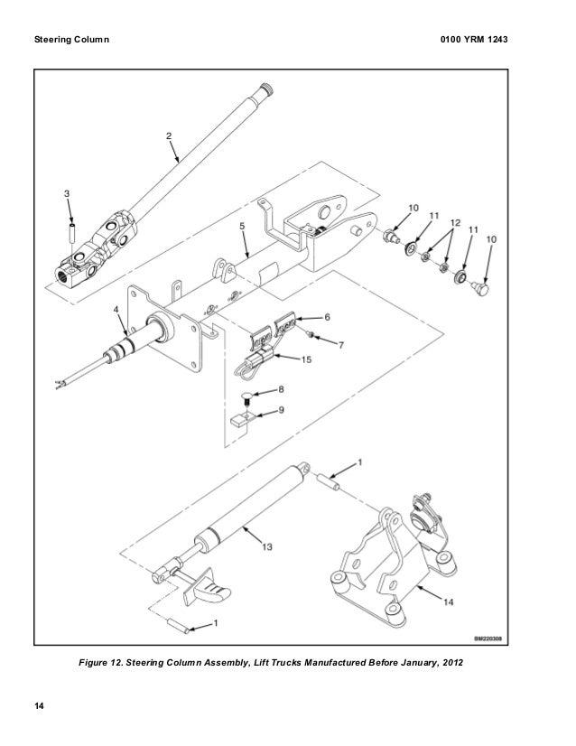 Yale j813 gp glp-gdp 110 vx lift truck service repair manual