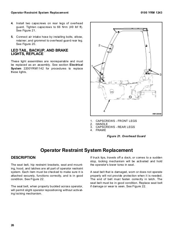 Yale j813 gp glp gdp 110 vx lift truck service repair manual 0100 yrm 1243 overhead guard replacement 25 30 asfbconference2016 Choice Image