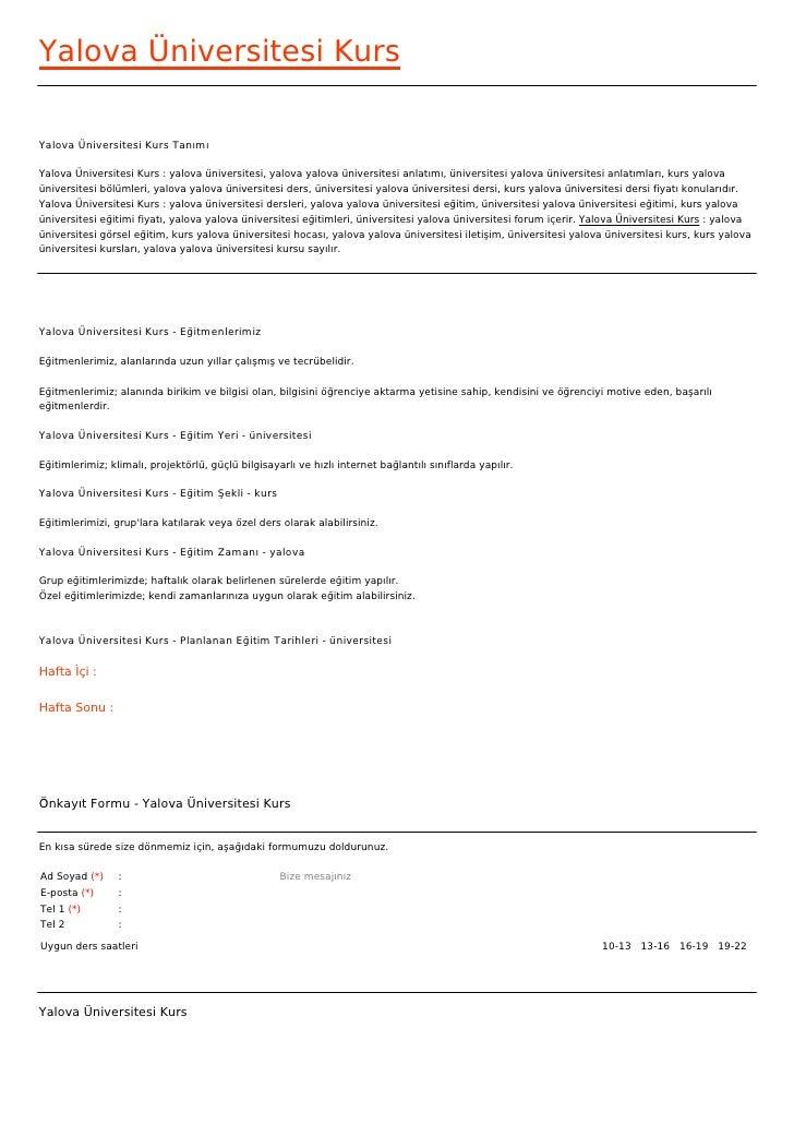 Yalova Üniversitesi KursYalova Üniversitesi Kurs TanımıYalova Üniversitesi Kurs : yalova üniversitesi, yalova yalova ünive...