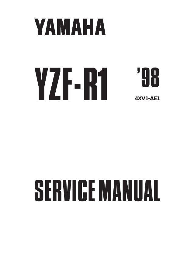 yamaha r1 service manual 2009