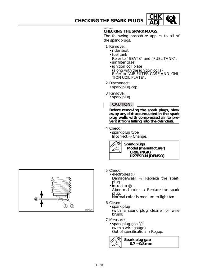 Yamaha Yzfr Service Manual