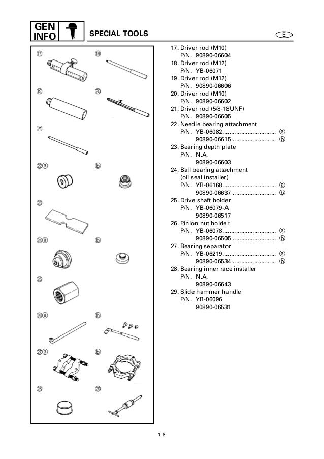 Yamaha f25 aet, f25tr outboard service repair manual l