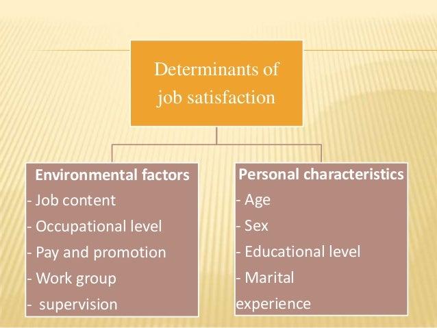 Determinant of job satisfaction