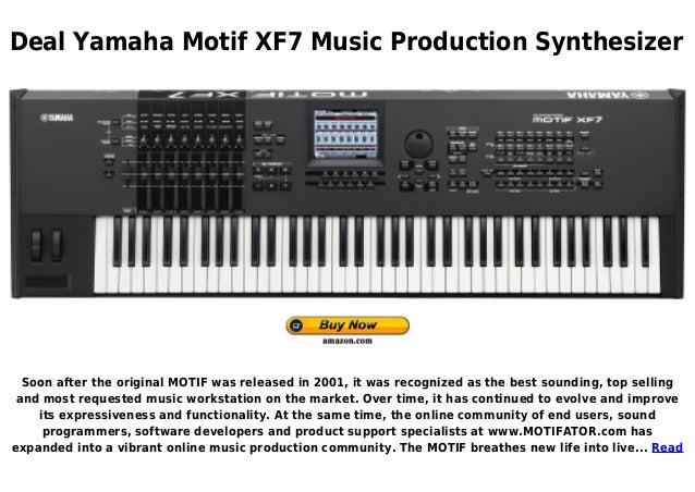 Yamaha motif xf7 music production synthesizer