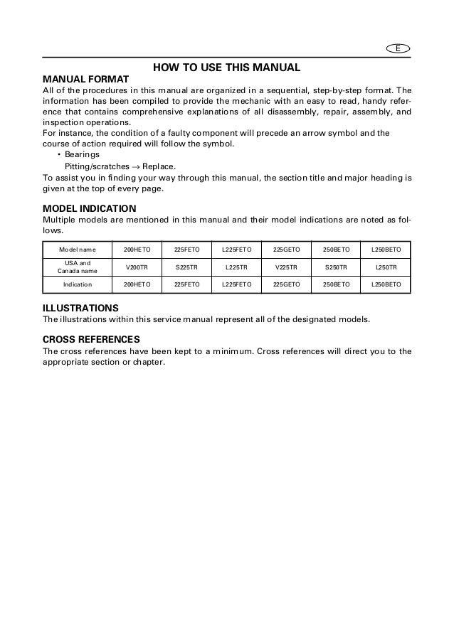 yamaha outboard motor repair manual