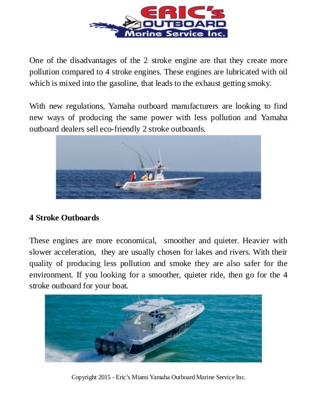 Yamaha outboard dealers: guide to select 2 stroke or 4