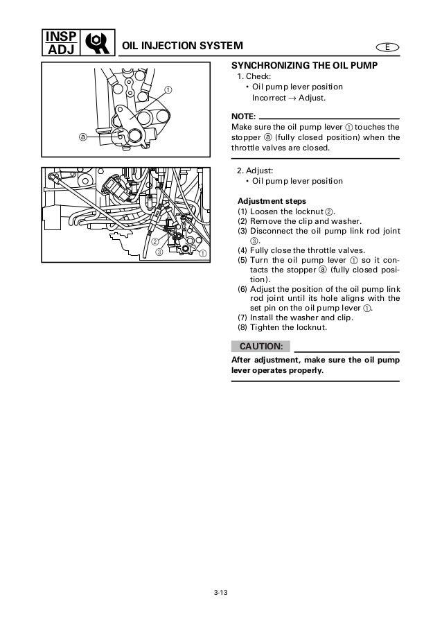 Yamaha Oil Pump Adjustment