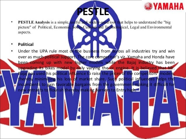 swot analysis of yamaha Yamaha brand is studied in terms of its stp, competitors and swot analysis.