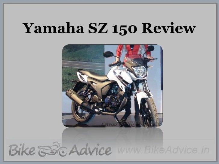 Yamaha SZ 150 Review<br />