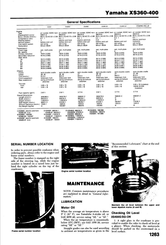 Marvelous Yamaha Xs 400 1977 1982 Service Manual Dailytribune Chair Design For Home Dailytribuneorg