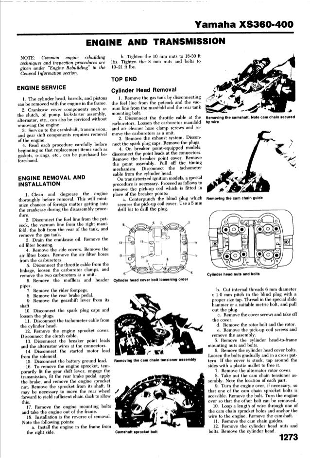 YAMAHA XS 400 1977-1982 - service_manual