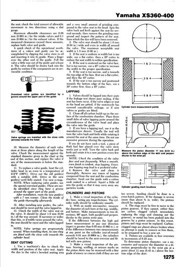yamaha xs 400 1977 1982 service manual. Black Bedroom Furniture Sets. Home Design Ideas