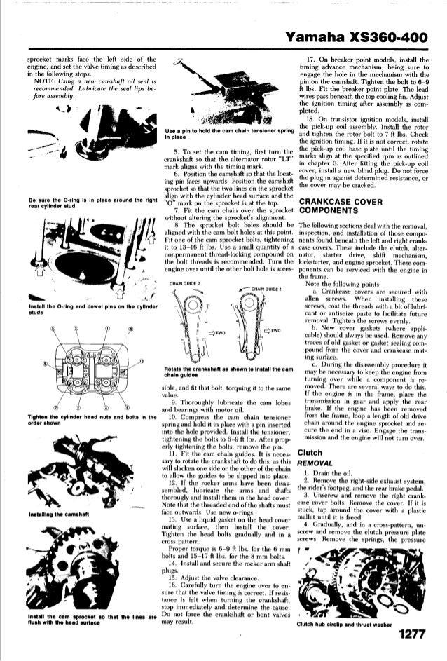 yamaha xs 400 1977 1982 service_manual 1980 yamaha xs400 cafe racer xs360 wiring diagram #21