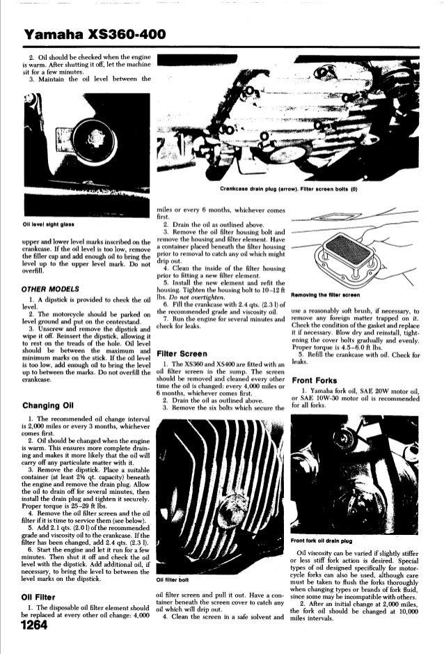 yamaha xs 400 1977 1982 service manual yamaha