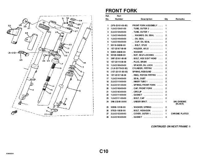 Yamaha xs400 sh_parts_catalogue