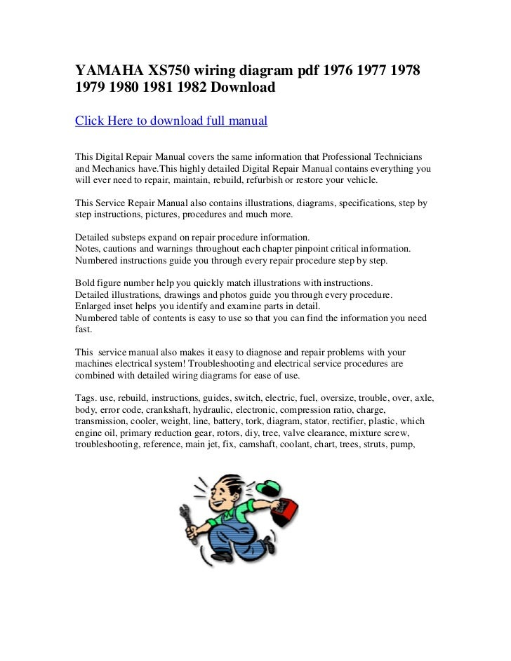 yamaha xs750 wiring diagram pdf 1976 1977 1978 1979 1980 1981 1982 do rh slideshare net