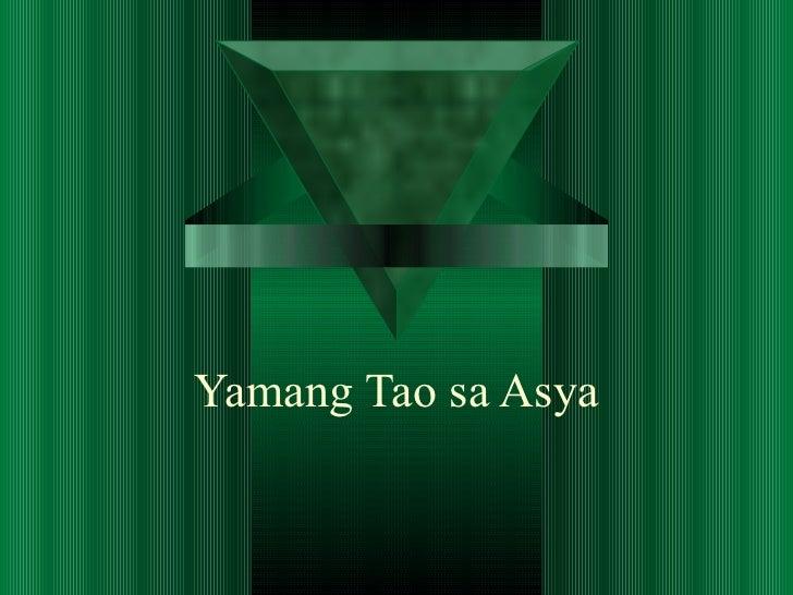 Yamang Tao sa Asya