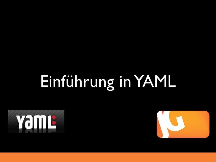 Einfuehrung in YAML (2010)