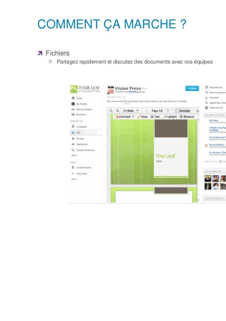 COMMENT ÇA MARCHE ?      Fichiers            Partagez rapidement et discutez des documents avec vos équipesSNCF – DOCUMENT...