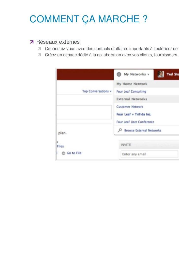 COMMENT ÇA MARCHE ?      Réseaux externes            Connectez-vous avec des contacts d'affaires importants à l'extérieur ...