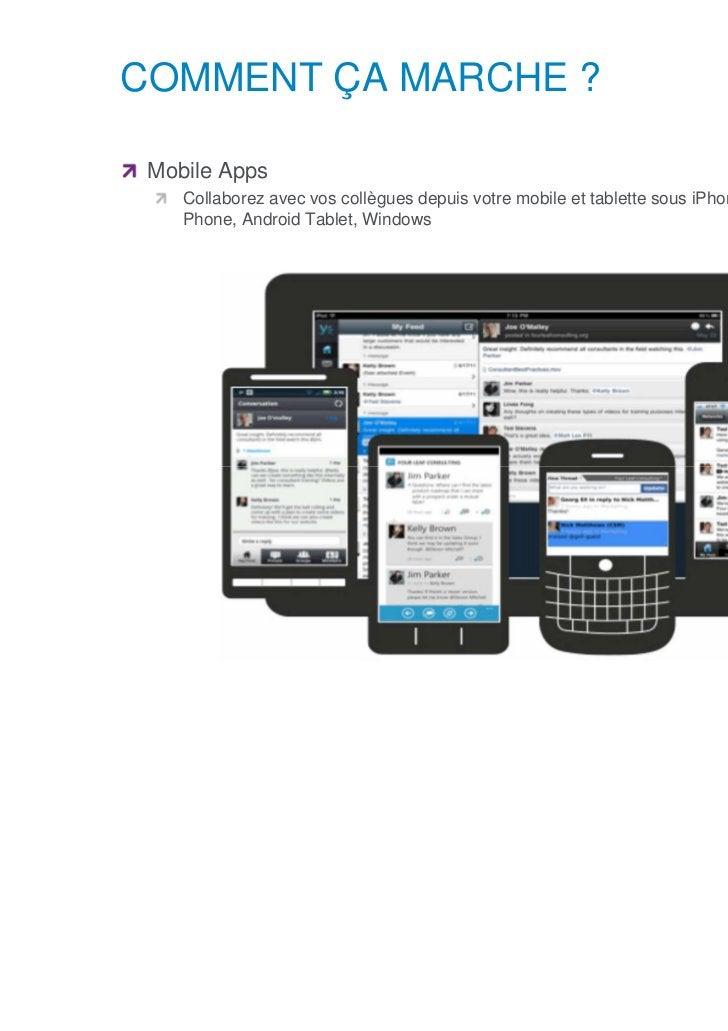 COMMENT ÇA MARCHE ?      Mobile Apps            Collaborez avec vos collègues depuis votre mobile et tablette sous iPhone,...