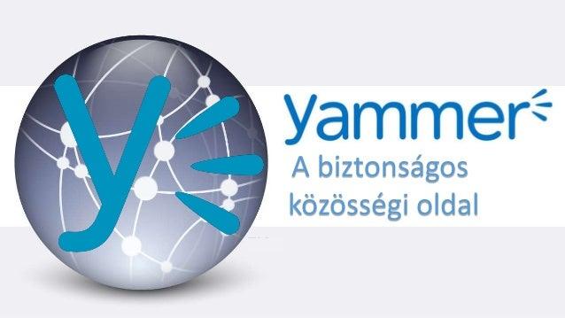 Yammer A biztonságos közösségi oldal