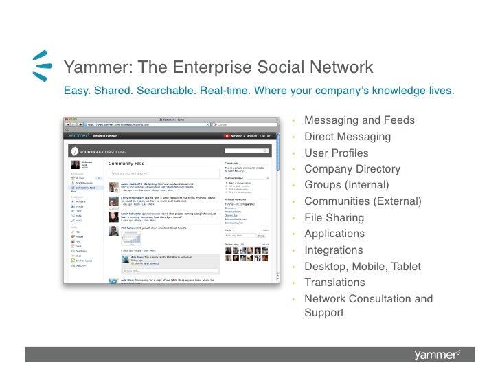 Yammer: The Enterprise Social Network