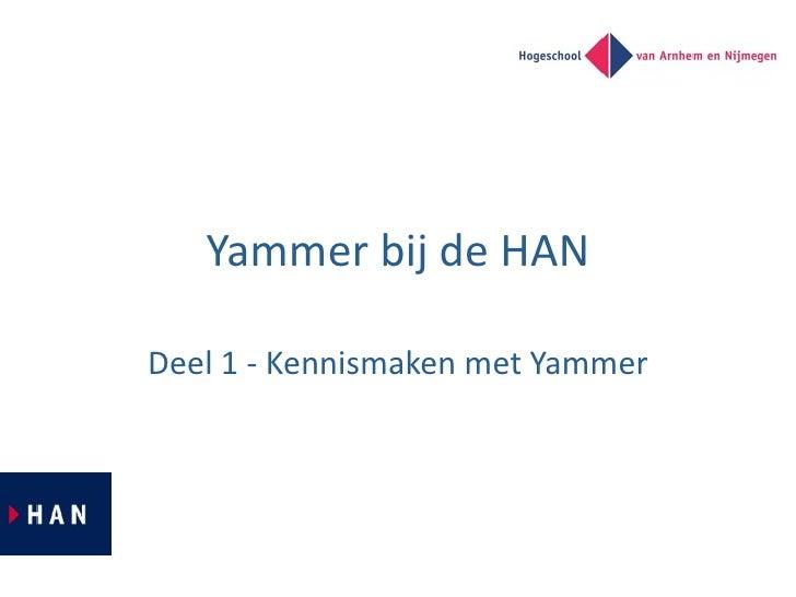 YammerbijdeHAN  Deel1‐KennismakenmetYammer