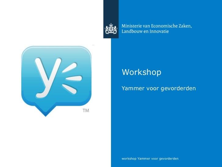 Workshop Yammer voor gevorderden