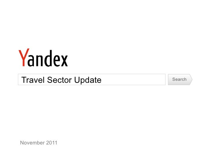 Travel Sector Update   SearchNovember 2011