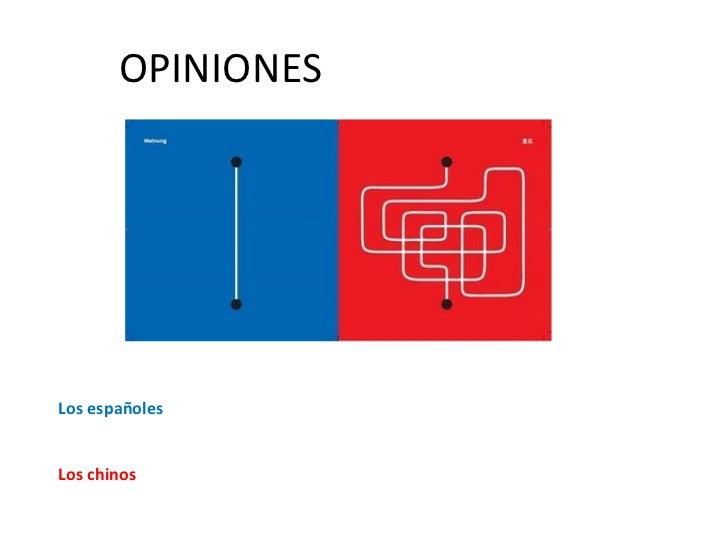 OPINIONES Los españoles Los chinos