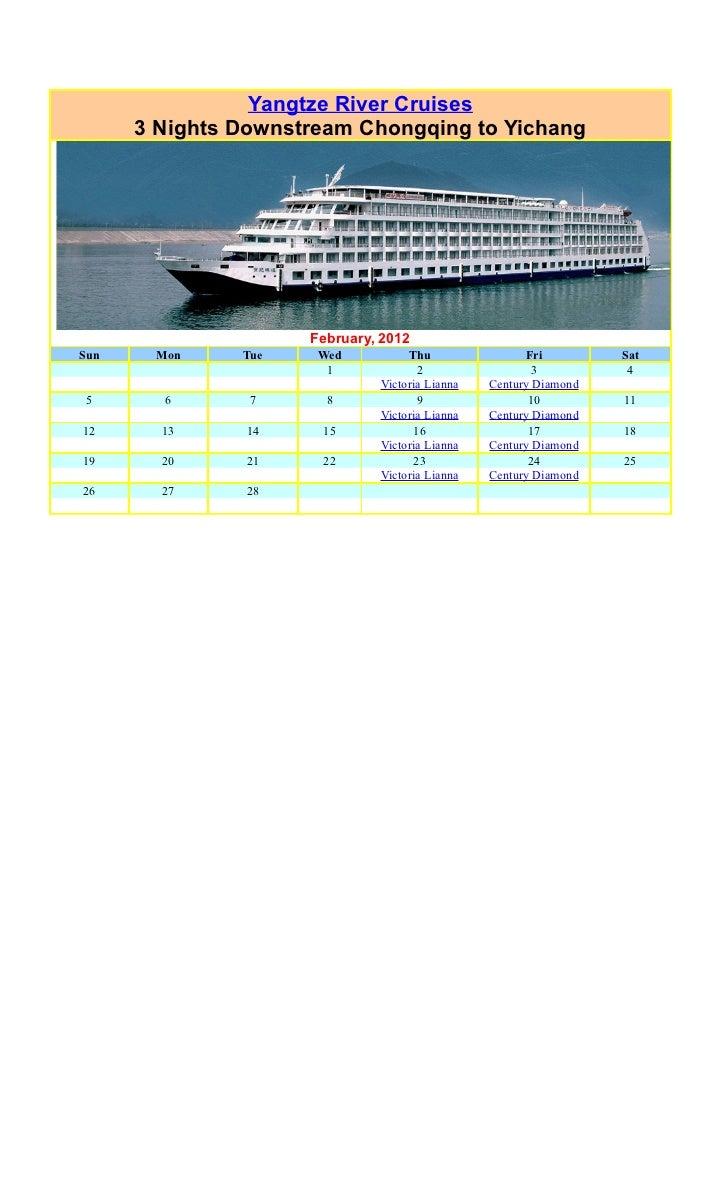 Yangtze Cruises February 2012 Chongqing to Yichang