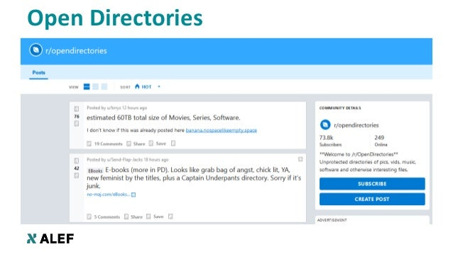 Open Directories: Sensitive data (not) hiding in plain sight Slide 2