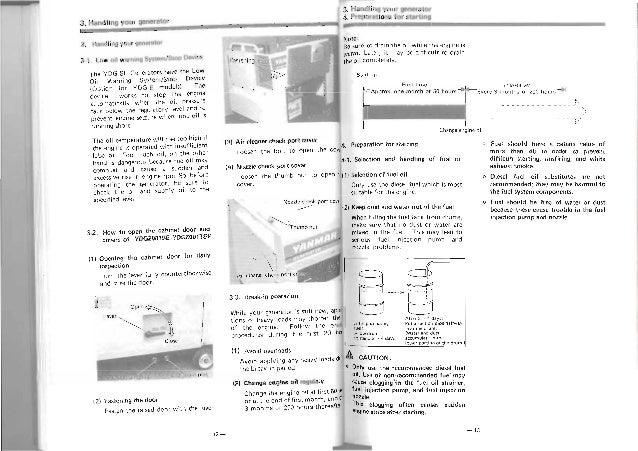 Yanmar ydg Operation manual