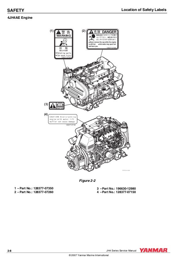 Yanmar 3 jh4e marine diesel engine service repair manual