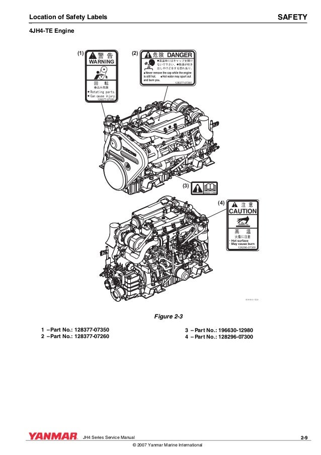 Yanmar 4 jh4 te marine diesel engine service repair manual