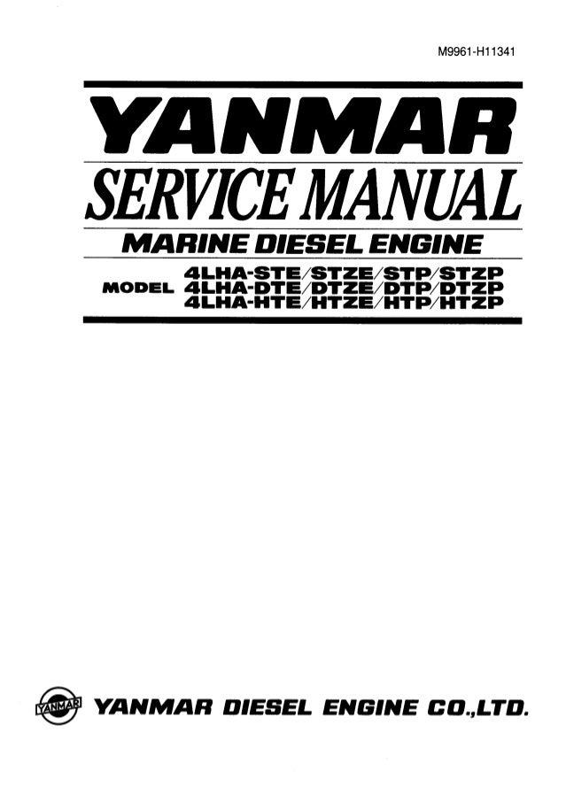 Yanmar 4 lha dtzp marine diesel engine service repair manual