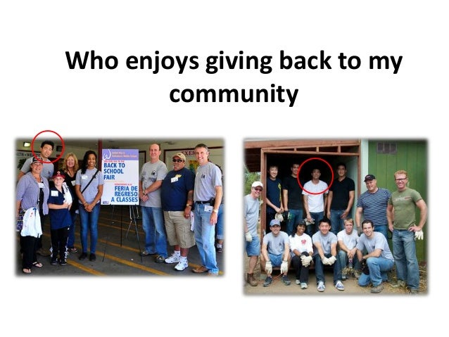 give back to community essay