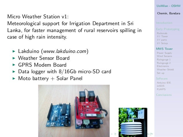 An open source hardware software online grid of weather