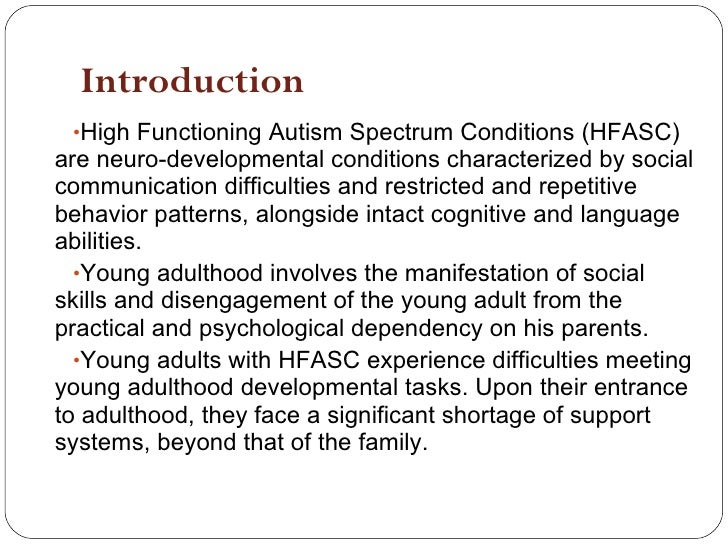 symtomsof high functioning adult autism