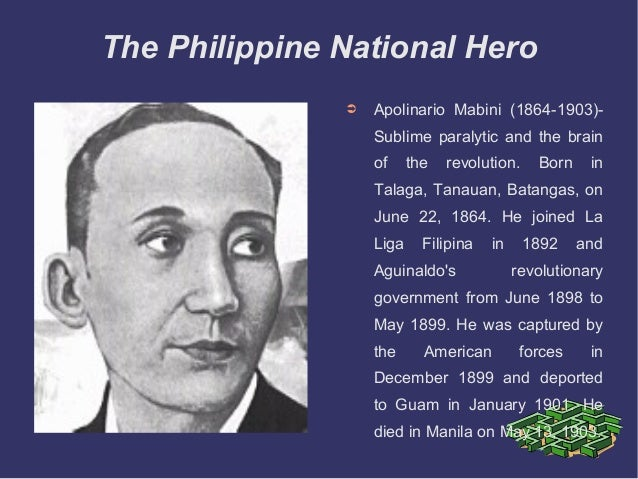 Apolinario mabini to the filipino nation