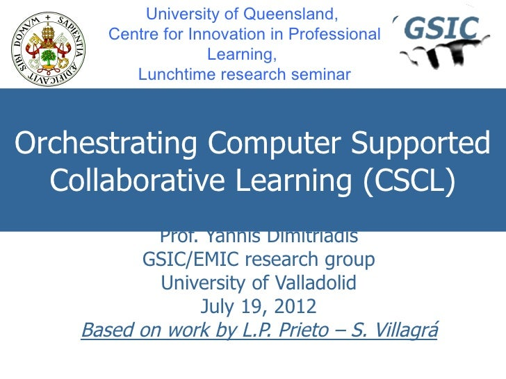 University of Queensland,       Centre for Innovation in Professional                     Learning,          Lunchtime res...