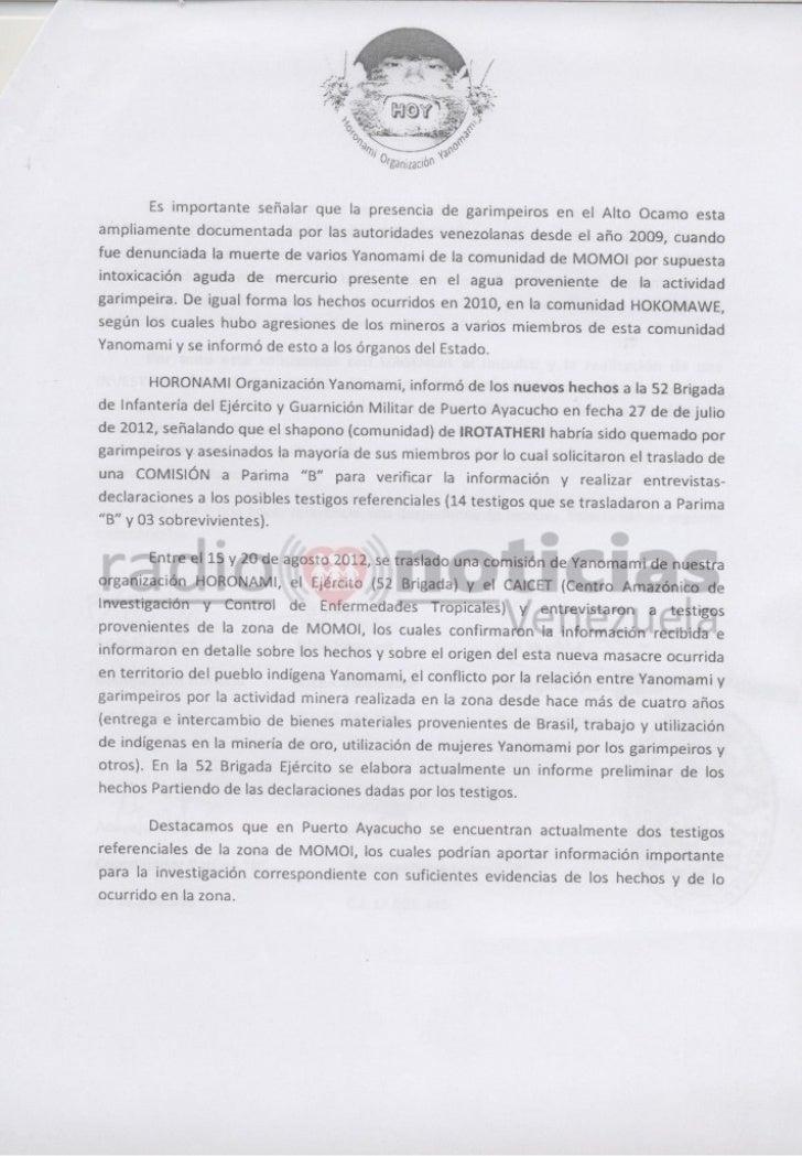Amazon Indians in Venezuela Report Gold Miner Attack Slide 2