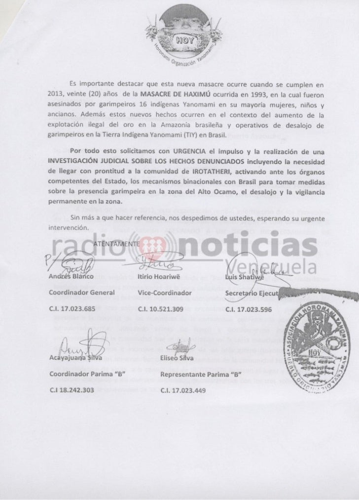 Amazon Indians in Venezuela Report Gold Miner Attack Slide 3