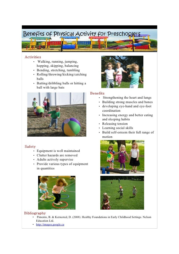 Activities      • Walking, running, jumping,         hopping, skipping, balancing      • Bending, stretching, tumbling    ...