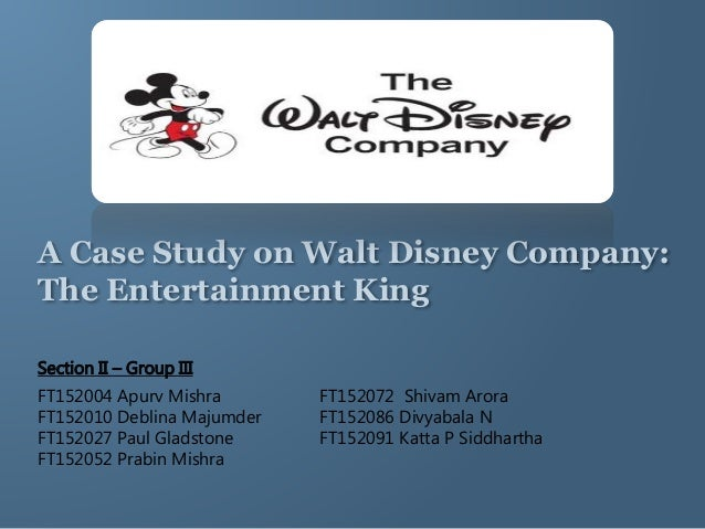 the walt disney company the entertainment king